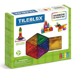 Magformers Tileblox Rainbow 30pc Set