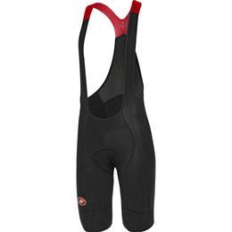 Castelli Omloop Thermal Bibshort Men - Black/Red Reflex