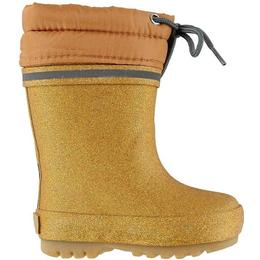 CeLaVi Wellies Thermal Giltter Lace Up - Pale Gold
