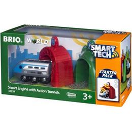 Brio Smart Tech Lokomotiv med action-tunneller 33834