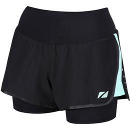 Zone3 Rx3 Medical Grade Compression 2-in-1 Shorts Women - Black/Mint