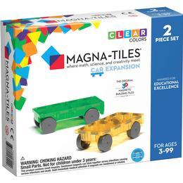 Magna-Tiles 3D Magnetic Building 2 Cars Expansion Set