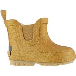 CeLaVi Giltter Thermal Wellies Short - Pale Gold