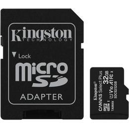 Kingston Canvas Select Plus microSDHC Class 10 UHS-I U1 V10 A1 100MB/s 32GB +Adapter