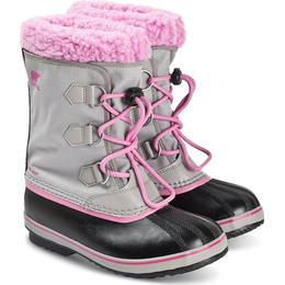 Sorel Youth Yoot Pac Nylon Boot - Chrome Grey/Orchid