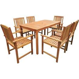 vidaXL 42623 Havemøbelsæt, 1 borde inkl. 6 stole