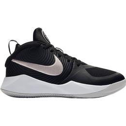 Nike Team Hustle D 9 GS - Black/Wolf Grey/White/Metallic Silver
