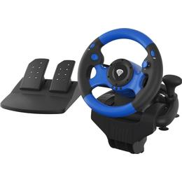 Natec Genesis Seaborg 350 Racing Wheel (PC/PS3/PS4/Xbox One/Xbox 360/Switch) - Black/Blue