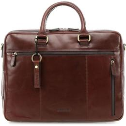 "Leonhard Heyden Cambridge Briefcase 15"" (3 Compartments) - Red Brown"