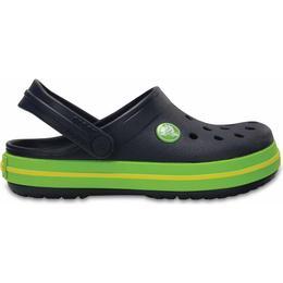 Crocs Kid's Crocband - Navy/Volt Green