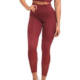 Better Bodies Waverly Mesh Tights Women - Sangria Red