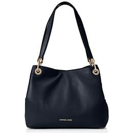 Michael Kors Raven Large Leather Shoulder Bag - Black