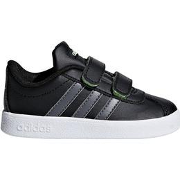 Adidas Infant VL Court 2.0 - Core Black/Grey Five/Hi-Res Yellow