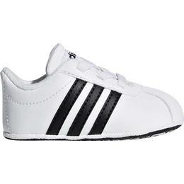 Adidas Infant VL Court 2.0 Laces - Cloud White/Core Black/Cloud White