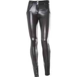 Freddy WR.UP Regular Waist Eco Leather Trouser - Black