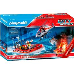 Playmobil Fire Service with Helicopter & Boat 70335