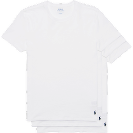 Polo Ralph Lauren Slim Crew Neck T-shirt 3-pack - White