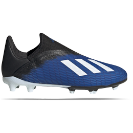 Adidas Junior X 19.3 FG Laceless - Team Royal Blue/Cloud White/Core Black