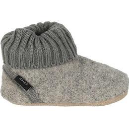 CeLaVi Ribbed Wool Shoes - Grey Melange