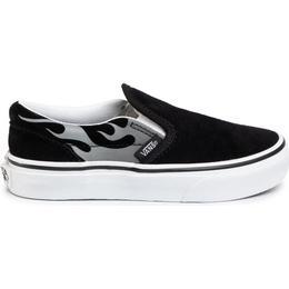 Vans Kid's Suede Flame Slip-On - Black/True White