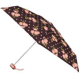 Totes Compact Flat Umbrella Polka Dot Rose