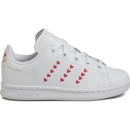 Adidas Kid's Stan Smith - Cloud White/Cloud White/Lush Red