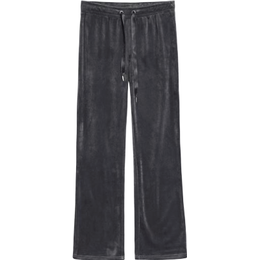 Gina Tricot Cecilia Velour Trousers - Dark Grey
