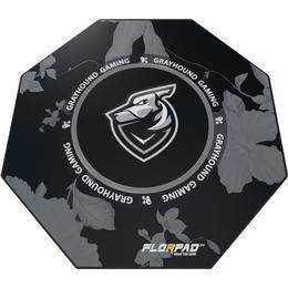 Florpad Grayhound Floor Mat - Black/Grey