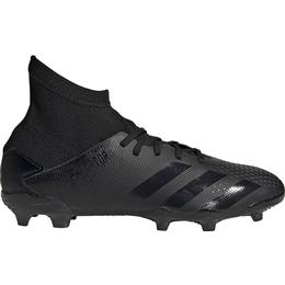 Adidas Junior Predator 20.3 FG Cleats - Core Black/Core Black/Dgh Solid Grey