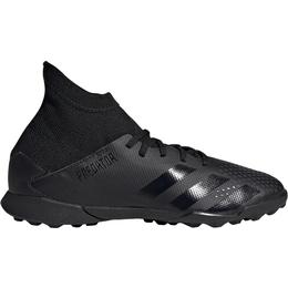 Adidas Junior Predator 20.3 Turf Shoes - Core Black/Core Black/Dgh Solid Grey