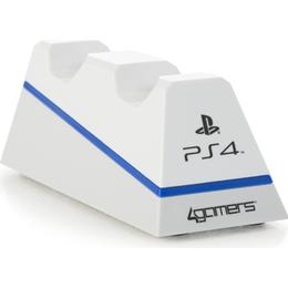 4gamers Playstation 4 Dual Charge 'n' Stand - White