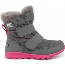 Sorel Children's Whitney Velcro Strap Boot - Quarry/Ultra Pink