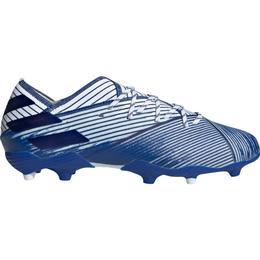 Adidas Nemeziz 19.1 Firm Ground Boots - Cloud White/Team Royal Blue