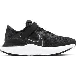 Nike Renew Run PSV - Black/White/Dark Smoke Grey/Metallic Silver