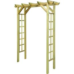 vidaXL Impregnated Wooden Arbour / Rose Arch 150x50x200cm