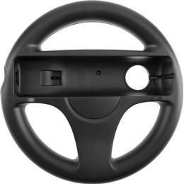 eStore Nintendo Wii/Wii U Racing Steering Wheel - Black