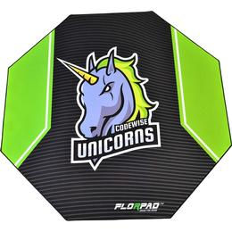 Florpad Codewise Unicorns Gamer Floor Mat - Black/Green