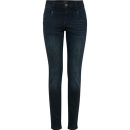 PULZ Jeans Carmen Highwaist Skinny Jeans - Dark Blue Denim