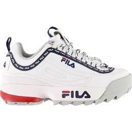 Fila Kid's Disruptor Logo Low - White/Navy