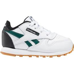 Reebok Infant Classic Leather - White/Black/Heritage Teal
