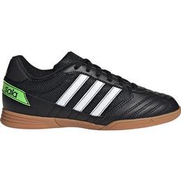 Adidas Junior Super Sala - Core Black/Cloud White/Solar Green