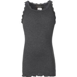 Rosemunde Girl's Lace Top - Dark Grey Melange (59159-009)