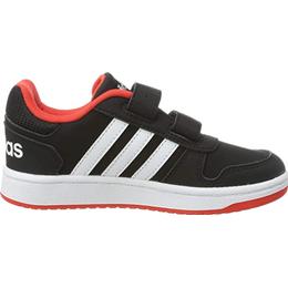 Adidas Kid's Hoops 2.0 - Core Black/Cloud White/Hi-Res Red