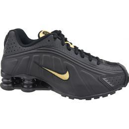 Nike Shox R4 GS - Black/Anthracite/Metallic Gold