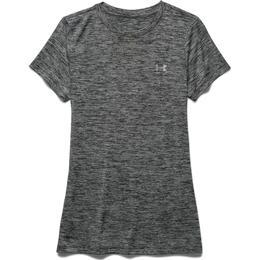 Under Armour Tech Twist T-shirt Women - Black/Metallic Silver