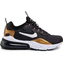 Nike Air Max 270 React GS - Anthracite/Black/Metallic Gold/White