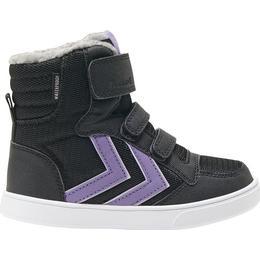Hummel Stadil Poly Boot Mid Jr - Black/Aster Purple