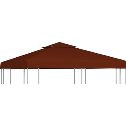 vidaXL 2-Tier Gazebo Top Cover 310 g/m² 3x3m