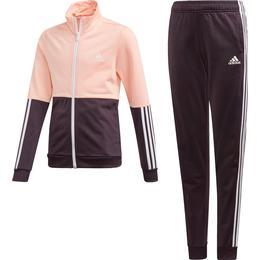 Adidas Tracksuit Girls - Haze Coral/Noble Purple/White
