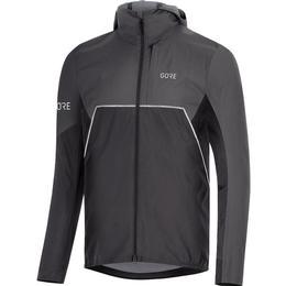 Gore Bike Wear Partial Gore-Tex Infinium Hooded Jacket Men - Black/Terra Grey